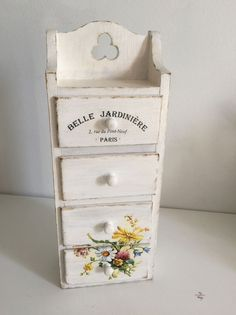 Shabby Wooden Jewelry Storage  Snickerdoodle Sunday Party