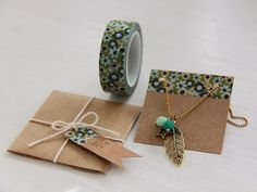 New Jewerly Packaging Diy Bijoux Ideas Jewelry Crafts, Handmade Jewelry, Diy Jewelry Cards, Jewelry Tags, Rustic Jewelry, Stone Jewelry, Bridal Jewelry, Jewelry Ideas, Washi Tape