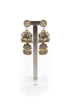 Gold Indian Bell Earrings #ustrendy www.ustrendy.com