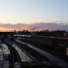 #Berlin #WarschauerStraße #Sunrise #train #station #Easter2015
