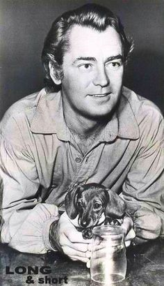 Alan Ladd and his Dachshund