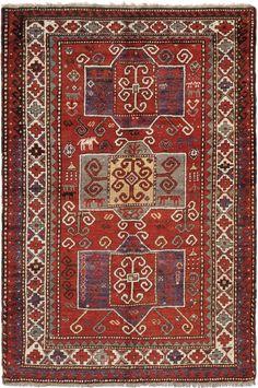 Schuler Auktionen Zürich     Kazak S-Kaukasus, um 1940  157x240 cm (ft. 5.2x7.9).