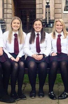 School Uniform Outfits, Cute School Uniforms, Geek Chic Outfits, Girl Outfits, British School Uniform, Catholic School Girl, School Girl Dress, Lace Tights, Stylish Girl