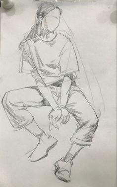 Human Figure Sketches, Figure Sketching, Human Sketch, Human Figure Drawing, Art Drawings Sketches Simple, Pencil Art Drawings, Random Drawings, Cartoon Kunst, Arte Sketchbook