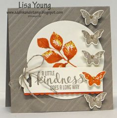 Leaves and Butterflies by genesis - Cards and Paper Crafts at Splitcoaststampers