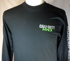 Call Of Duty T-Shirt Medium Mens MW3 Graphic Black Modern Warfare #Activision #GraphicTee