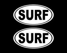 Oval Surf Decal Surfer Sticker Car Decal by StickerAndDecalMafia
