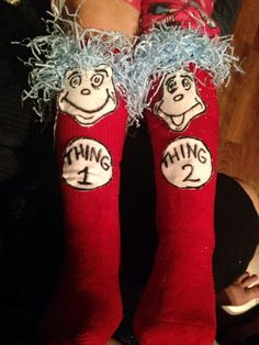 Stuff I have made...Dr. Seuss crazy sock day!