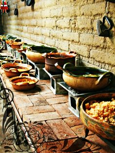 Traditional Mexican food at local shop Authentic Mexican Recipes, Mexican Buffet, Mexican Dessert Recipes, Mexican Dishes, Mexican Style Kitchens, Traditional Mexican Food, Mexican Cooking, Latin Food, Peru