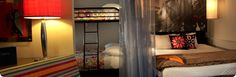 a hip hotel in DC with bunk beds for the kids