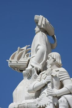 The Discoveries Monument has statues of all the great Portuguese explorers such as Vasco da Gama and Magellan. At the front is Henry the Navigator. Portuguese Culture, Spain And Portugal, Most Beautiful Cities, Ancestry, Travel Pictures, Wonders Of The World, Statues, Discovery, Europe