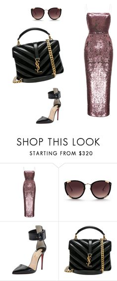 """""""Untitled #9"""" by cristinageorgiana-1 ❤ liked on Polyvore featuring beauty, Rasario, Rebecca Taylor, Christian Louboutin and Yves Saint Laurent"""