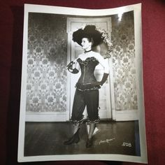 Vintage 1900's Broadway Performer Girl Risque Pinup Art Deco Corset Umbrella | eBay