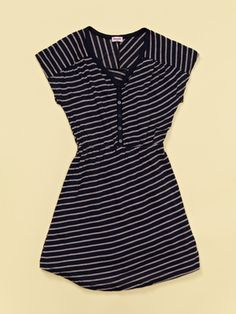 Splendid Stripe Henley Dress