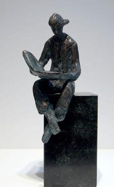 Piets Althuis - Lezende Jongen - brons