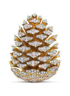 verdura aquamarine | Pine cone brooch by Fulco di Verdura.