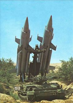 """East German ✠ """"2K11 Tel Krug"""" Self Propelled Surface-to-Air Missile Launcher - Crew: 3 to 5 - Missiles have a Range of 31 - 34 Miles and an Engagement Altitude of 330 - 88,500 ft, Carrying a (300 lb) Fragmentation Warhead  - 500 Built (1964-2007) (2)"""