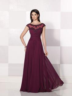 A-Line/Princess Short Sleeves Bateau Chiffon Applique Floor-Length Dresses