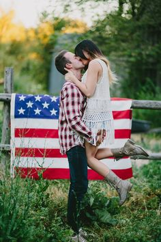 Kailey Rae Photography Utah Photographer Utah Engagement Photographer 4th of July Patriotic Shoot 4th of July Engagements Red White and Blue Picket Fence Engagements White Barn Engagements Coke Bottle Engagements American Themed Shoot