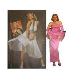 """Marilyn Monroe Dress """"Seven Year Itch"""" & """"Gentlemen Prefer Blondes"""" Misses Size 10, 12, 14 Bust 32 1/2 34 36 Simplicity 8393 Sewing Pattern"""