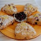 Huckleberry Lemon Scones