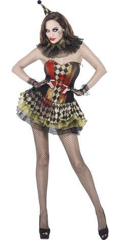 Adult Fever Creepy Zombie Clown Costume