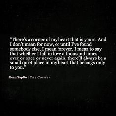 Beau Taplin - There's a corner of my heart...