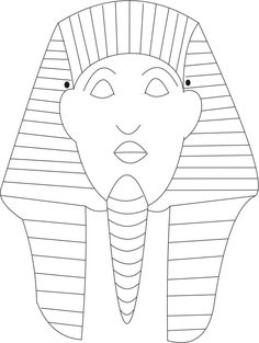 Sphinks mask printable coloring page for kids