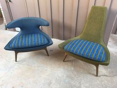 Set Of Very Rare Mid Century Horn Lounge Chair Adrian Pearsall Karpen Eames Mcm | eBay