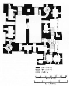Walls as Rooms: British Castles and Louis Kahn Louis Kahn, Architecture Drawings, Architecture Plan, Architecture Details, Architecture Models, Classical Architecture, Landscape Architecture, The Plan, How To Plan