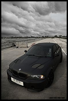Matte Black BMW Too sexy!