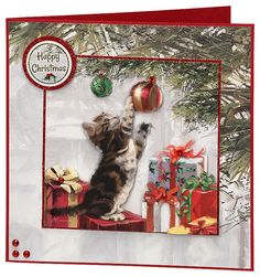 Craft Creations die cut decoupage - DCD618 - Kitten and Presents