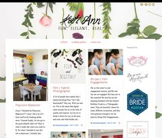 Love this photography blog design. Her full sized background image is lovely! Running on an Angie Makes Wordpress Theme