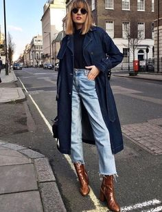 Autumn winter casual street style London scene