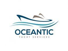 Exclusive Customizable Logo For Sale: Oceantic Yacht Services Ship Logo, Web Design Logo, Boat Names, Hotel Logo, Calligraphy Logo, Beauty Bay, Car Logos, Cruise Travel, Sports Logo