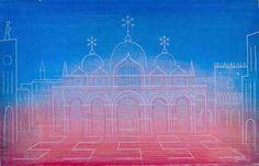 Jan Zrzavý - San Marco (1931)  #art #Czechia #painting Venice, Taj Mahal, San, Building, Illustration, Artist, Painting, Travel, Viajes