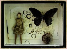 Have you seen your little mother, Lisa? - assemblage box by Pina Delvaux.