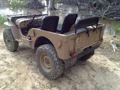 willys jeep m38. This was listed as a m38 but looks more like a early CJ2A to me.