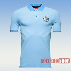 3c29dd820abc2 Cool Promotional Manchester City 2016 2017 Light Blue Mens Collared Striped Polo  Shirt Slim Fit Personalized