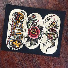 Split by @matt_miller_tattoo @alexsierratattoos & @_joelgray_ #trflash#traditional_flash#tattoo#tattooflash#traditional#traditionaltattoo#traditionalflash#tattooart#flash#art#illustration#drawing