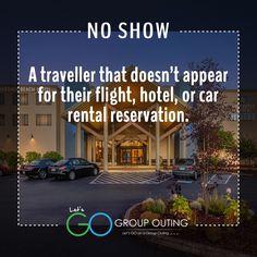 #GroupOuting Do you know the#traveltermNo Show?
