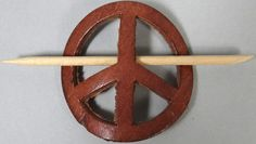 Vintage Leather Peace Sign Hair Clip Holder Barrette Authentic 60s 1960s Hippie | eBay