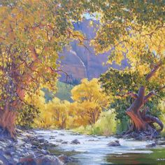 Cottonwood Alley - Painting - available at Meyer Gallery
