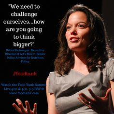Happening Now! Watch Live @ www.foodtank.com #foodtank #letsmove