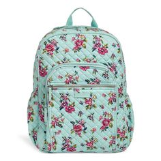 Vera Bradley Iconic Campus Backpack in Water Bouquet Fashion Handbags, Purses And Handbags, Backpack Bags, Fashion Backpack, Diaper Backpack, Mini Mochila, Cute Backpacks, School Backpacks, Cheap Bags