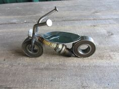 Metal motorcycle by AdamsCraftyCreations on Etsy