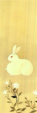 View Rabbit by Kokei Kobayashi on artnet. Browse upcoming and past auction lots by Kokei Kobayashi. Clematis Flower, Japanese Flowers, Girl Sketch, Hollyhock, Global Art, Art Market, Flower Art, Original Artwork, Rabbit