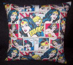 Wonder Woman Classics Comics book Retro Cushion cover 16x16inch on Etsy, $28.90
