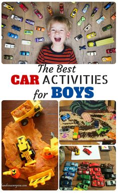 Boys are so fun to play with! Oh how they love their cars! Based on all the fun we've had with our boys we've compiled a huge round up of all our favorite games, activities, and toys that have to do with cars. Enjoy!