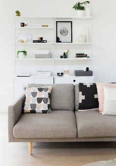 Good cushions | Couch cushions, pink, black, white, grey
